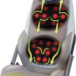 HoMedics Appareil de massage shiatsu pour le dos et les épaules - Fauteuil de massage réglable, tension 3 réglages de zone